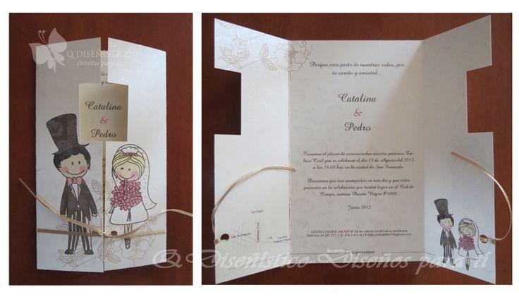 Parte de Matrimonio, Papel con brillos, diseño personalizado