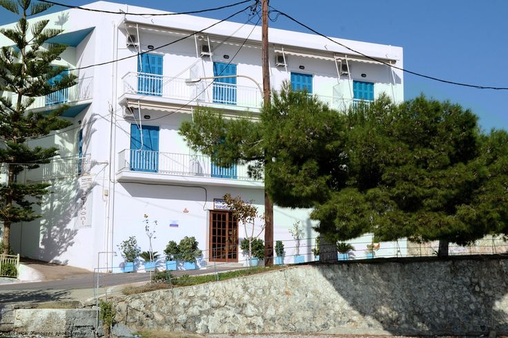 Close view of our small and cozy hotel in Tyros Peloponnese Greece. It is located next to the beach.