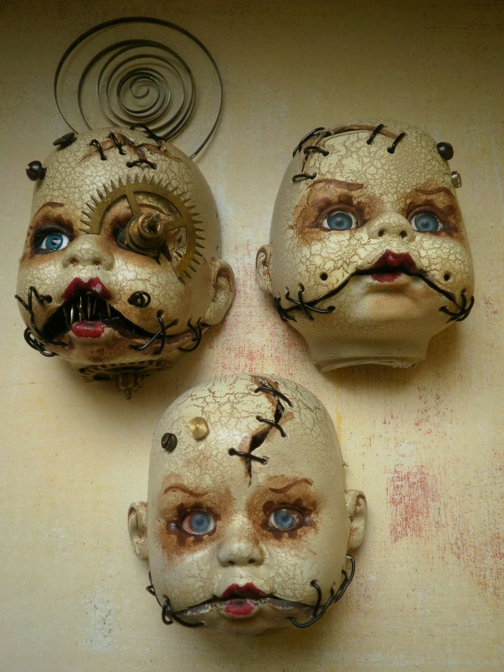 inspiration for a set of 'see no evil, speak no evil, hear no evil' dolls. ~pimpin a lil bit of that steampunk style~