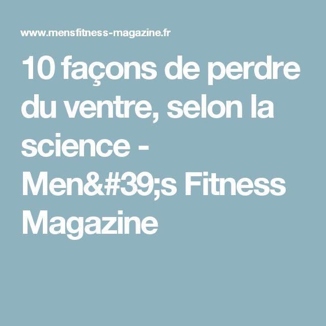 10 façons de perdre du ventre, selon la science - Men's Fitness Magazine