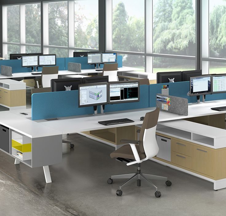 18 Best Dogbone Cubicles / Desks / Workstations Images On