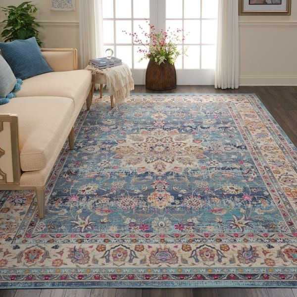 Nourison Vintage Kashan Bohemian Area Rug Living Room Area Rugs Rugs In Living Room Area Rugs