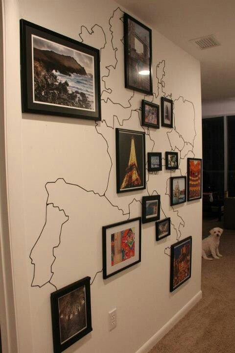 Such a cute idea to showcase your travels!