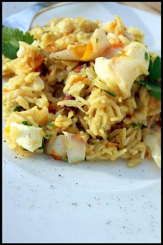Kedgeree de haddock by Rick Stein (plat anglo-indien composé de poisson (églefin habituellement fumé), de riz et d'œufs)