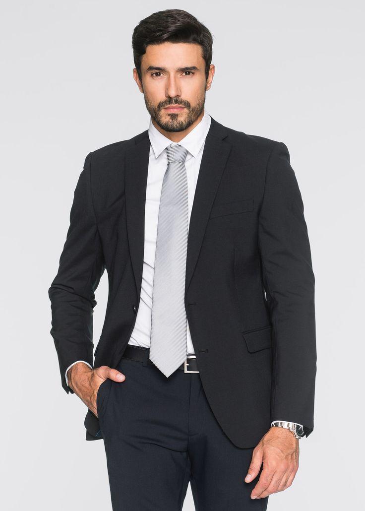 Giacca in misto lana regular fit Nero - bpc selection è ordinabile nello shop on-line di bonprix.it da ? 89,99. Giacca a 2 bottoni con taschino a filetto e ...