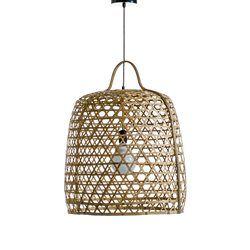 €179 Redoute Suspension Nylia en bambou. Fabrication artisanale. Diamètre 56 cm x H.79 cm.
