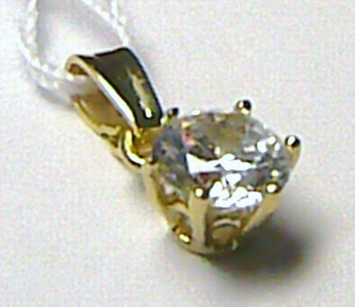 Zlatý přívěsek s obrovským zirkonem 585/0,83 gr H145