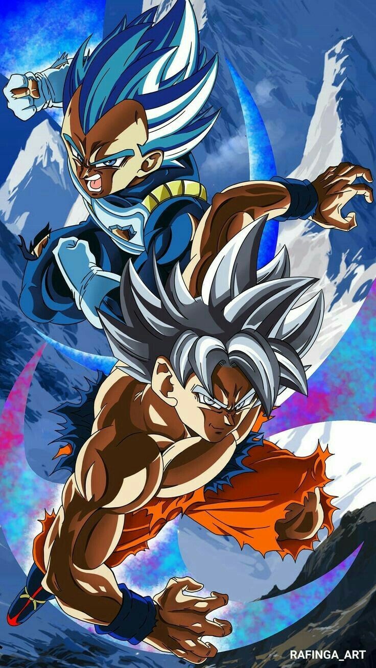 Goku and Vegeta in their strongest forms Dragon ball