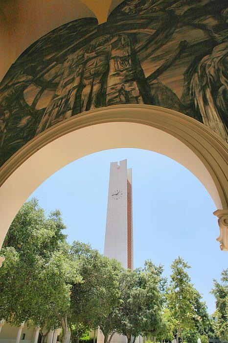 clock tower, Claremont-McKenna College, Claremont, CA