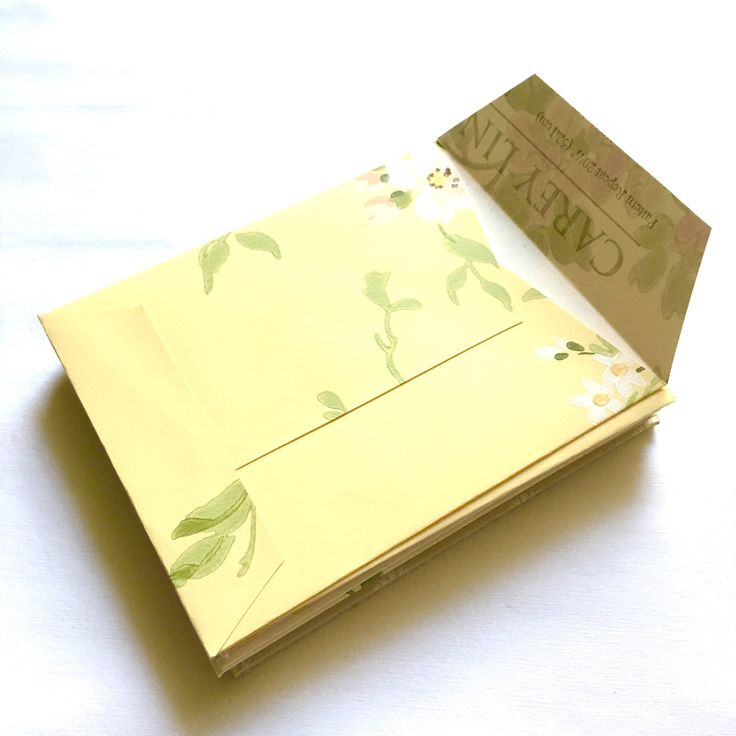 20 Recycled Wallpaper Pocket Envelopes 4.25 x 5.25 Invitation Size Handmade Upcycled Repurposed Yellow White Tan Beige Floral FREE SHIPPING by WillodyneMarie on Etsy