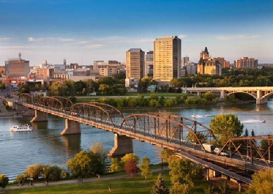 Saskatoon, Saskatchewan. Such a beautiful gem of a city - visited on a work excursion in 2003 and fell in love with it!