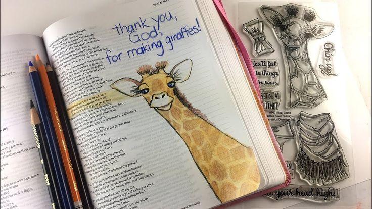 Christmas Bible Craft 1: Bible Journaling gift page (Psalm 104:24)
