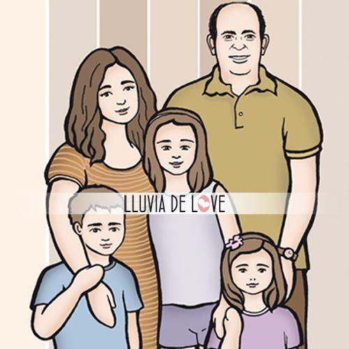 Retrato de familia en colgante personalizado. Encargos desde la web http://www.lluviadelove.com/ Family portrait. Custom jewelry. Orders from the web
