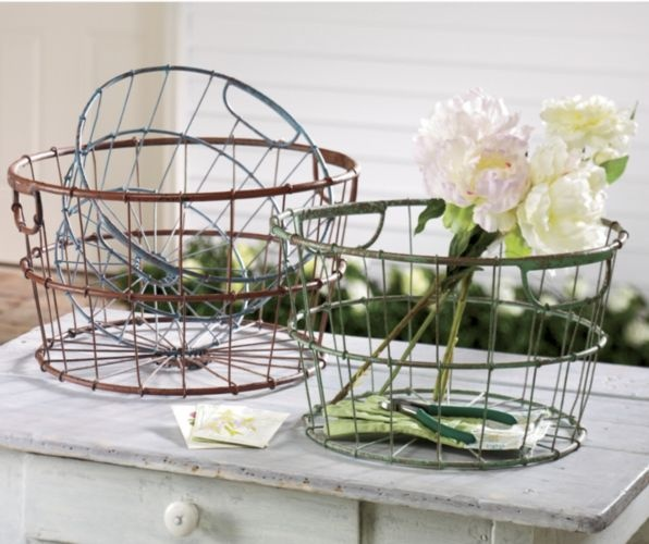 Set of 3 Nesting Baskets from Through the Country Door®: Country Garden Cottage, Nesting Baskets, Wire Baskets, Country Door, Egg Basket, Decorative Baskets