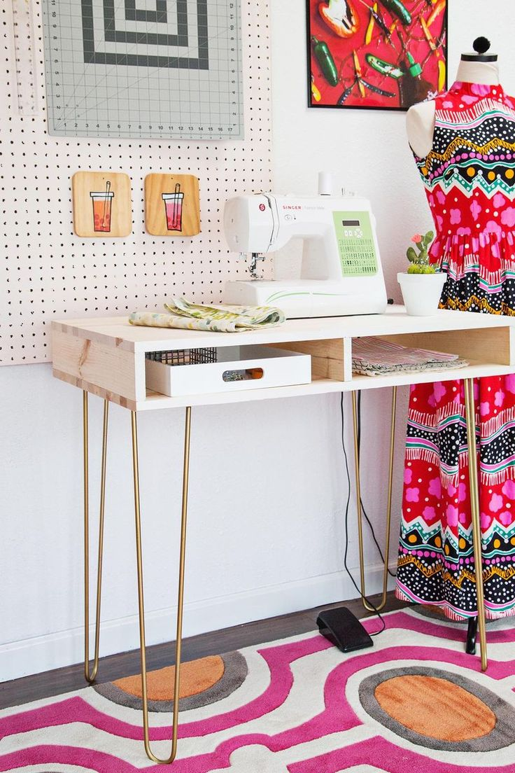 Emma's (Super Easy) DIY Sewing Desk - A Beautiful Mess