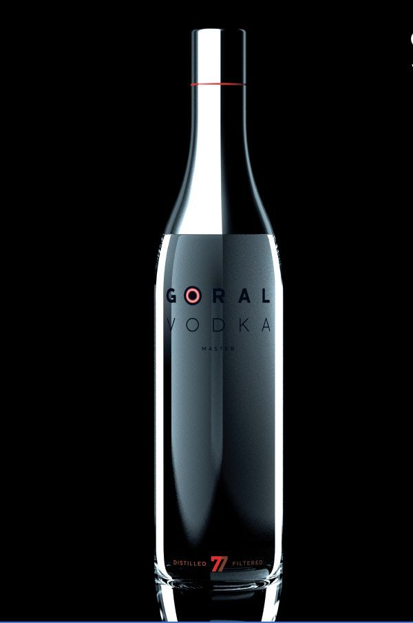 Goral vodka bottle design with shrink sleeve label #etiquette #bouteille #shrink…