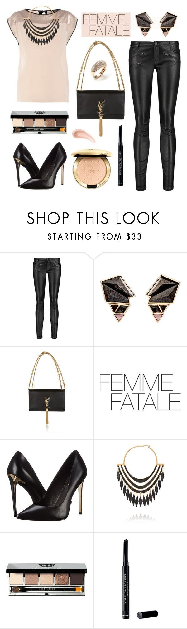 """Femme Fatale"" by yoshigirl28 ❤ liked on Polyvore featuring Kelly Wearstler, Maje, Nak Armstrong, Yves Saint Laurent, Rachel Zoe, Balmain, Bobbi Brown Cosmetics, Christian Dior, Vendoro and NARS Cosmetics"