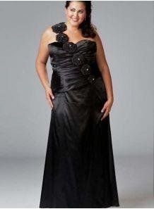 MAGDALENA - Evening dresses Plus size Sheath/Column Floor length Stretch satin One shoulder Occasion dress