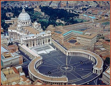 "Basilica di San Pietro (Rome). It is a Late Renaissance church located within the Vatican City. La Basilica di San Pietro has the largest interior of any Christian church in the world and it is regarded as one of the holiest Catholic sites. It has been described as ""holding a unique position in the Christian world"" and as ""the greatest of all churches of Christendom"". The basilica is the burial site of its namesake San Pietro."