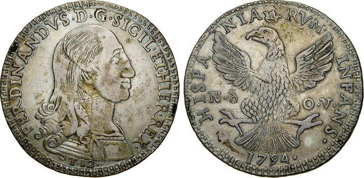 NumisBids: Numismatica Varesi s.a.s. Auction 65, Lot 544 : PALERMO - FERDINANDO III (1759-1816) 12 Tarì 1794. Sp. 16 MIR...
