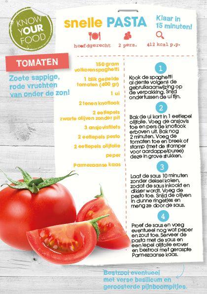 Snelle pasta met tomaten