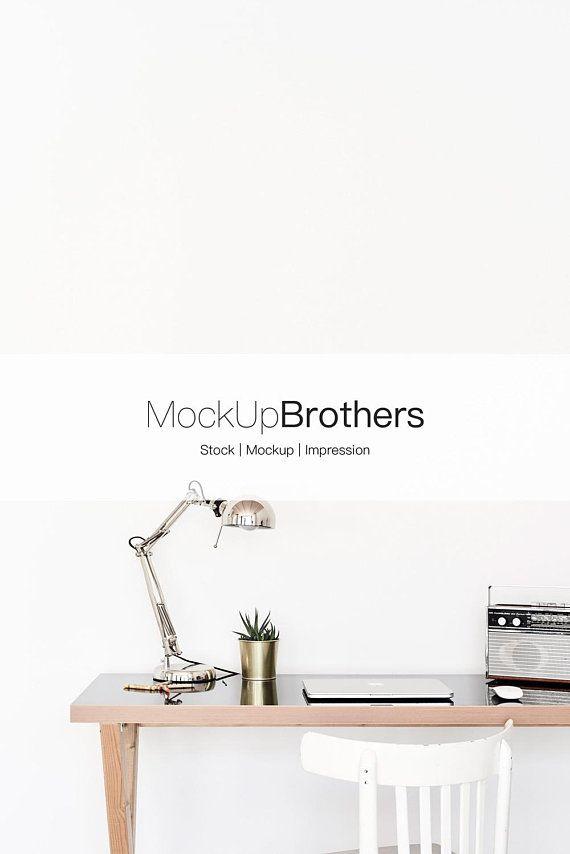 Frameless Mockup Desk Mock Up Industrial Decor Mockup Wall Art Decor Interior Sto Interior Decorating Styles Industrial Decor Industrial Home Offices