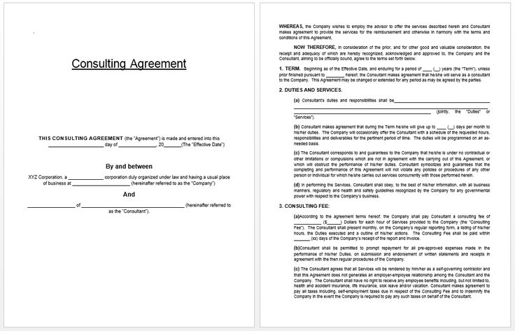 Consulting Agreement Template business templates Pinterest - consulting agreement