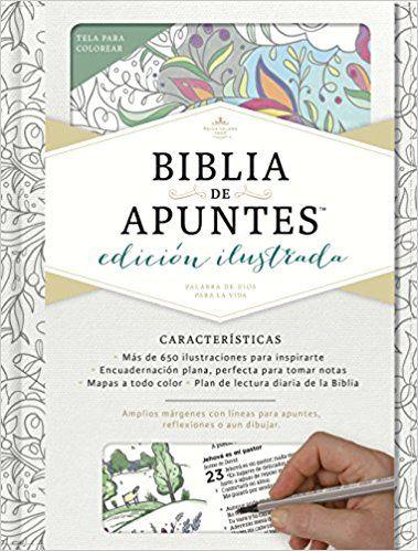 Rvr 1960 Biblia De Apuntes Edicion Ilustrada Blanco En Tela Para Colorear Amazon