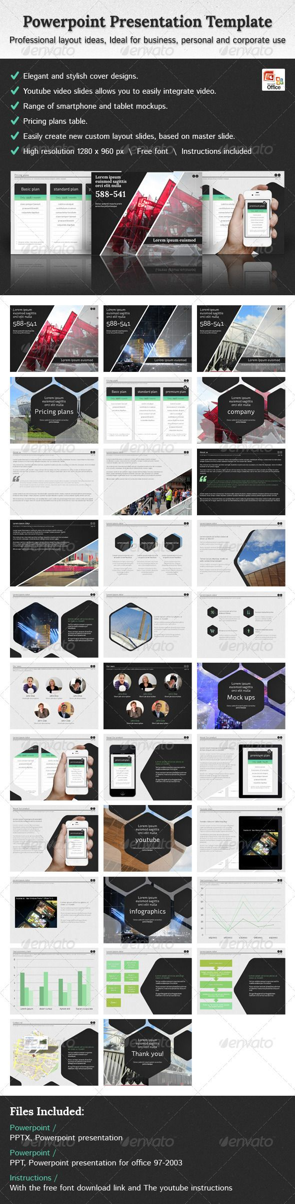 Hexagon - Powerpoint Presentation Template