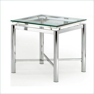 Steve Silver Company Nova Glass Top End Table - NV100EX