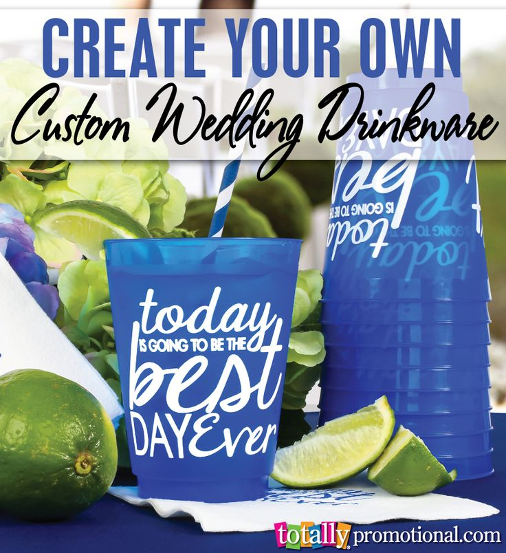 Create your own custom wedding drinkware with us! Choose from our nearly100 fully customizable wedding art templates along with your cup style, size & color! Your options are endless and your guests will love these favors! #drinkware
