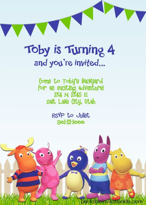 Backyardigans Birthday Card Love The Wording On This Invite