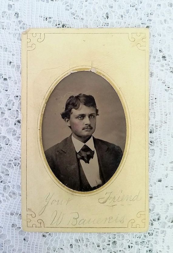 Antique Tintype Photograph  Dashing Young by DaysofYoreTreasures