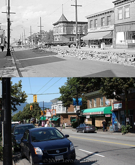 Commercial Drive at Napier Street - 1954/2009