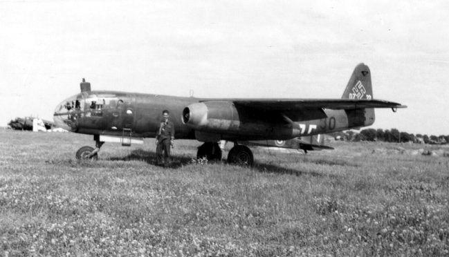 "Arado Ar 234 ""Blitz"" (Lightning). -First operational jet-powered bomber-."