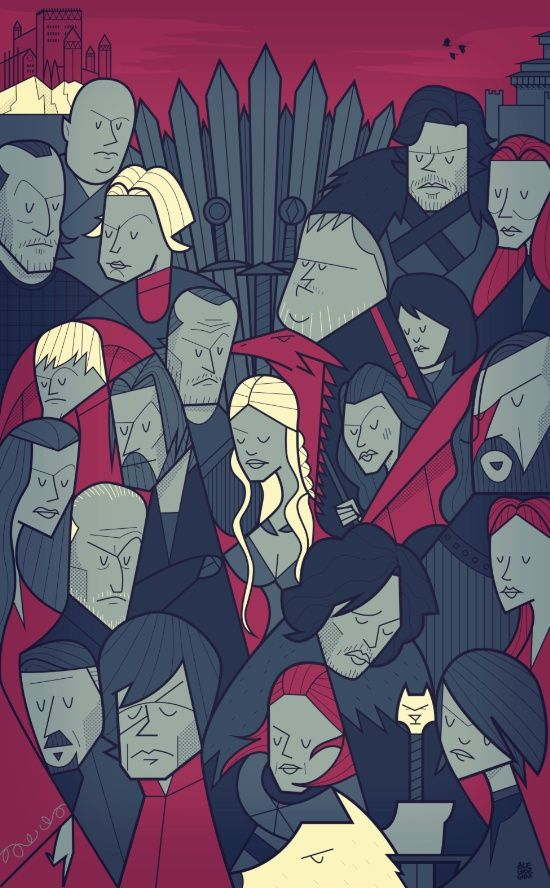 Game of Thrones, Art Print, Ale Giorgini