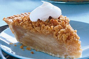 RITZ Mock-Apple Pie - from Kraft Food & Family magazine, the magazine version skips the crumb topping and uses a double crust, so however you prefer would work fine.  If you opt for a top crust increase the baking temp to 425 degrees and bake for 30-35 minutes.