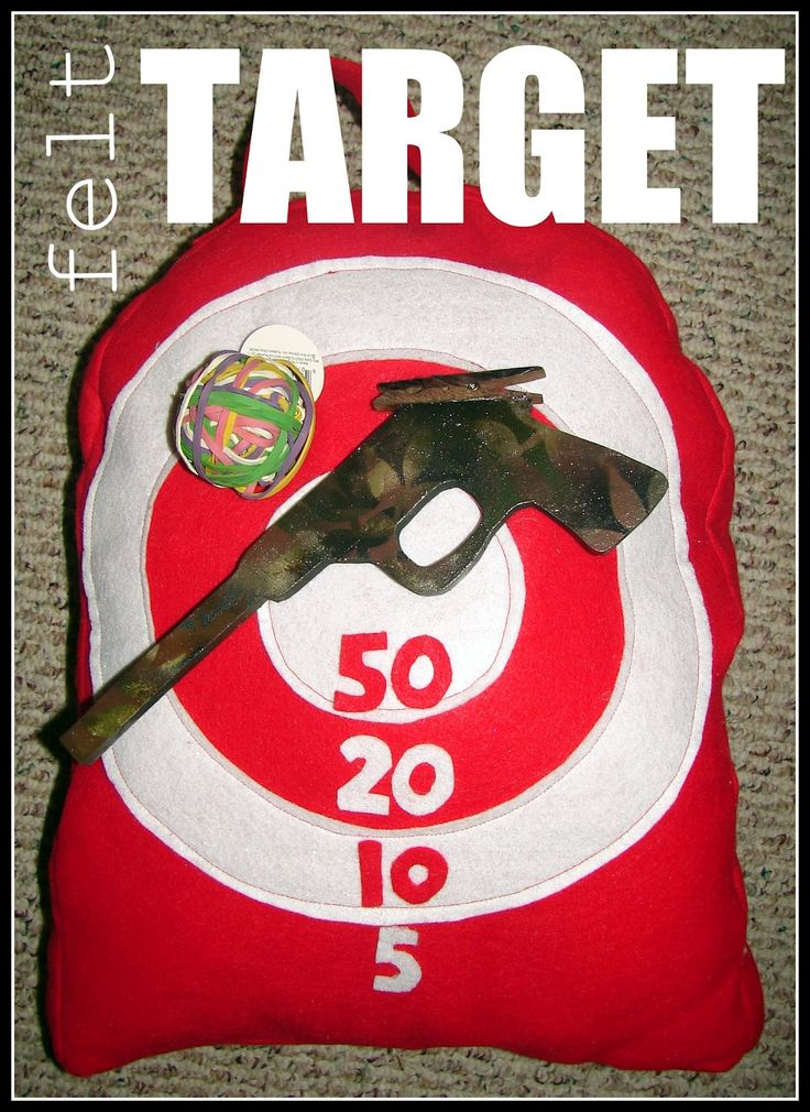 DIY Rubber band gun and target. My grandpa made rubber band guns and flip targets for us when I was a kid...memories