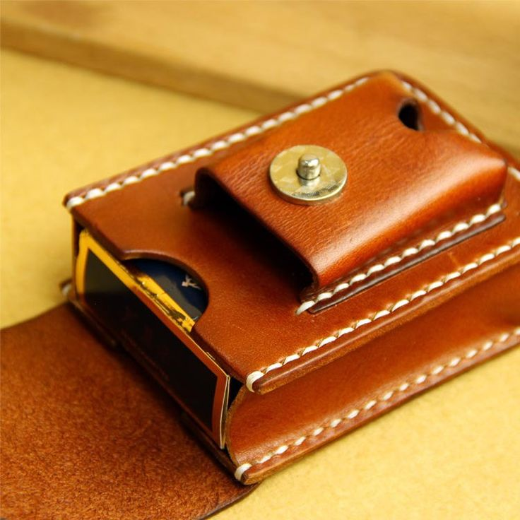 Handmade Sewing Cigarette Lighter Holder Bag Case For Zippo Super Match Small Box Genuine Leather Cover Box by Rochid on Etsy