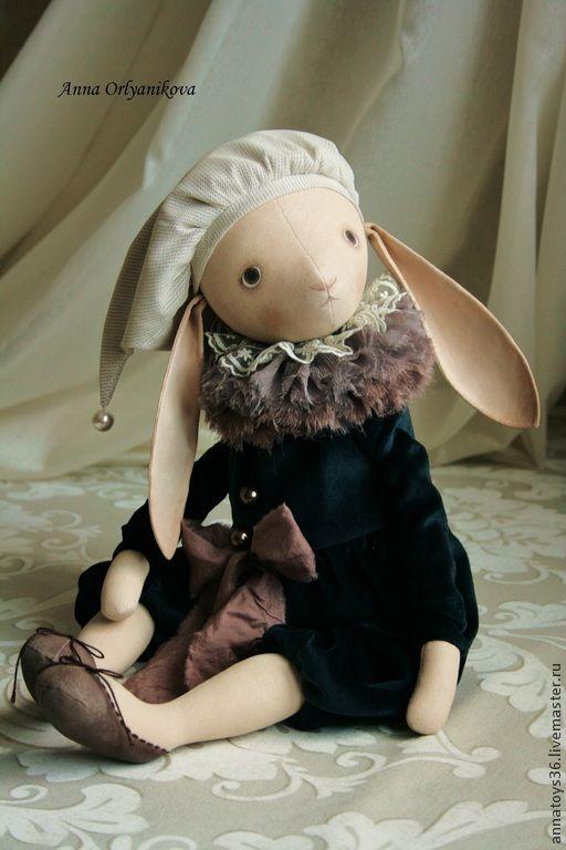 Купить Эмиль - зайчик, зайка, авторская ручная работа, ручная работа, коллекционная кукла