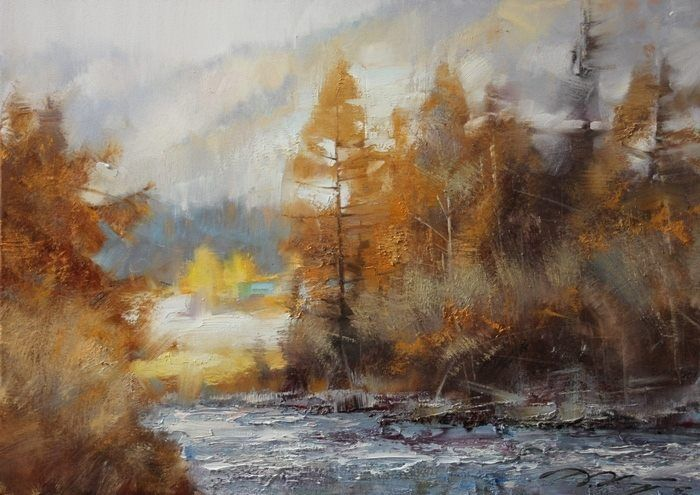 Денис Октябрь- художник из Барнаула Осень в горах Алтай 2014