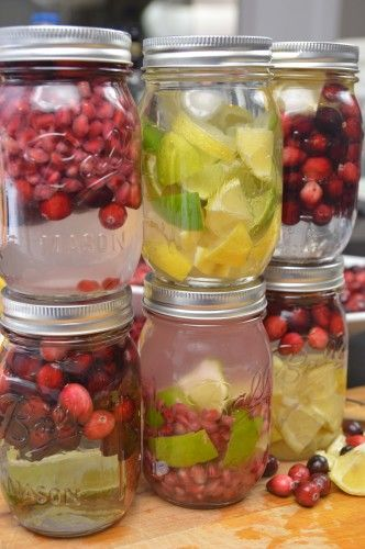 12 DIY Gift Ideas Everyone Will Love - Homemade flavored vodka is a DIY favorite during the holiday season! Fill some mason jars with vodka and add some fresh fruit. Let it sit for in the fridge and marinate for at a few days to a week. Serve & drink. See more at: Tee-to-Table