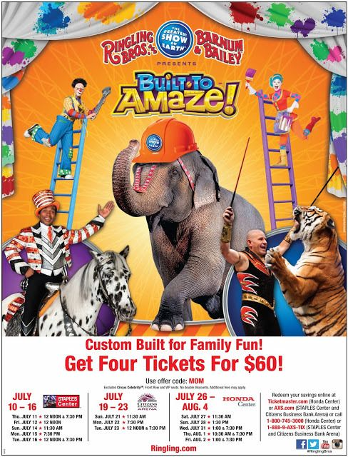 Ringling Brother Barnum & Bailey Circus Show Schedule @RinglingBros