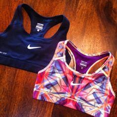 Nike or under armour Nike or under armour sports bra..... Preferably patterned