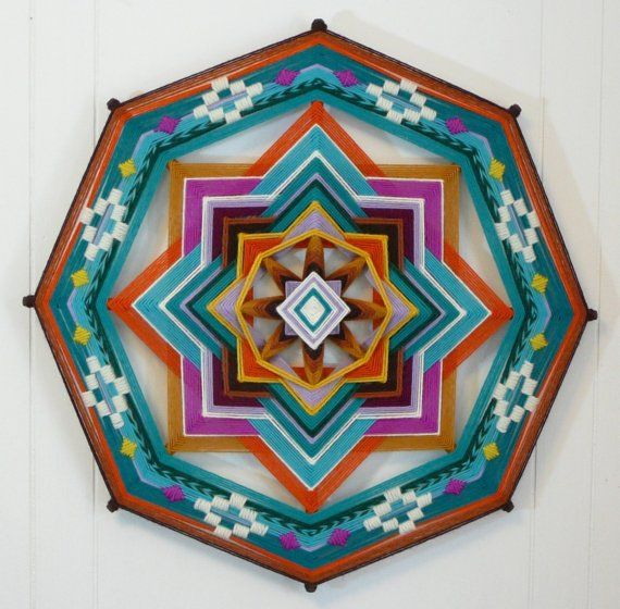 Distant Drum, an eight-sided, 18 inch Ojo de Dios, Etsy $105.00