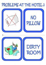 English worksheet: problems at the hotel flashcards/ speaking cards (2/3)