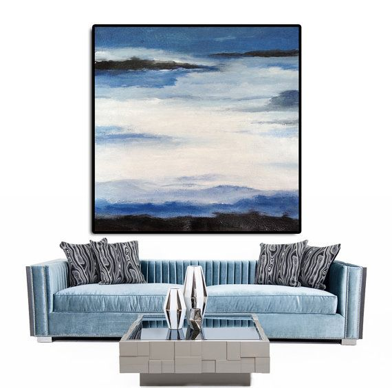 Original Art Extra Large Abstract Painting on by CelineZiangArt
