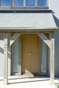 Oak entrance, by Roderick James Architects