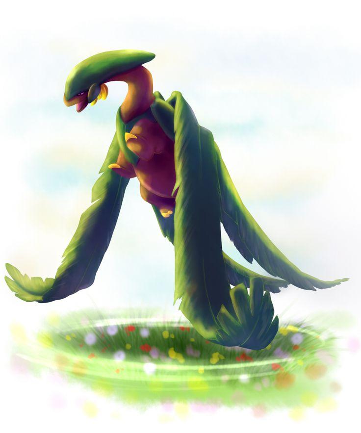 tropius grass flying pokemon art