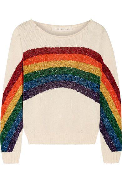 Marc Jacobs - Metallic Intarsia Cotton Sweater - Ivory - x large